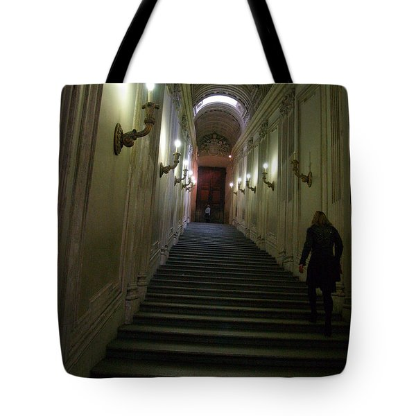 Tote Bag featuring the photograph Stairway  by Robin Maria Pedrero