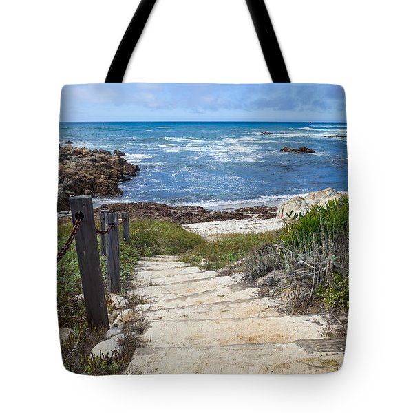 Stairway To Asilomar State Beach Tote Bag