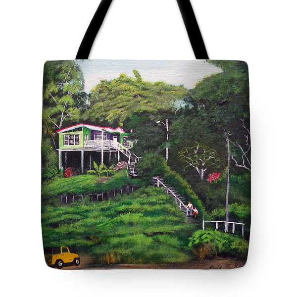 Stairway To Heaven Tote Bag by Luis F Rodriguez