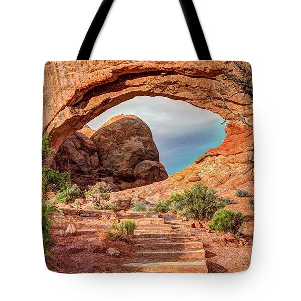Stairway To Heaven - North Window Arch Tote Bag