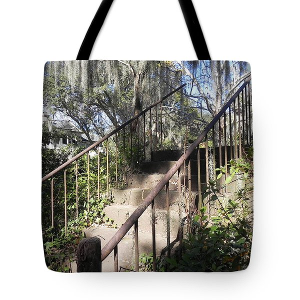 Stairway To Nowhere Tote Bag by Patricia Greer