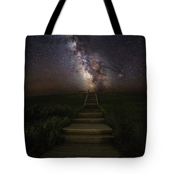 Stairway To The Galaxy Tote Bag