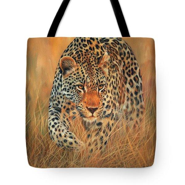 Stalking Leopard Tote Bag