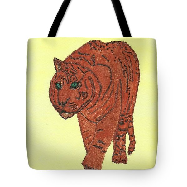 Stalking Tiger Tote Bag by Tracey Williams