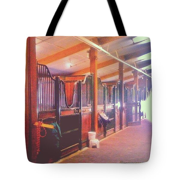 Stall Doors In The Red Barn, Stanford Tote Bag