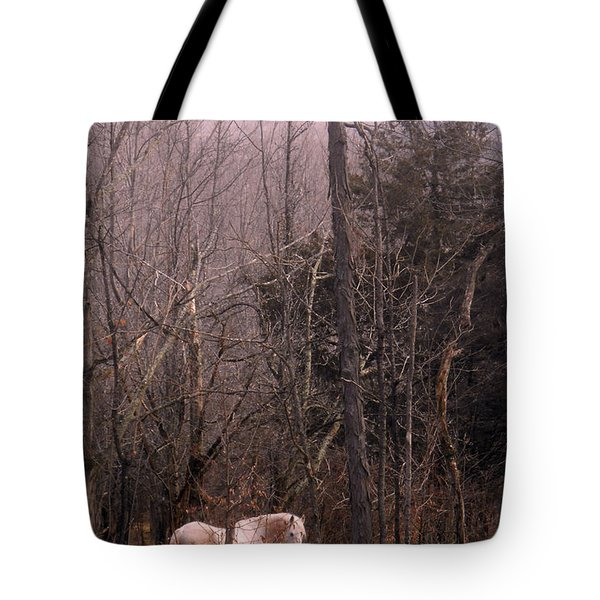 Stallion In The Mountain Pasture Tote Bag