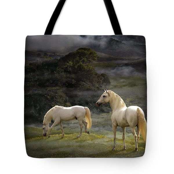 Stallions Of The Gods Tote Bag by Melinda Hughes-Berland