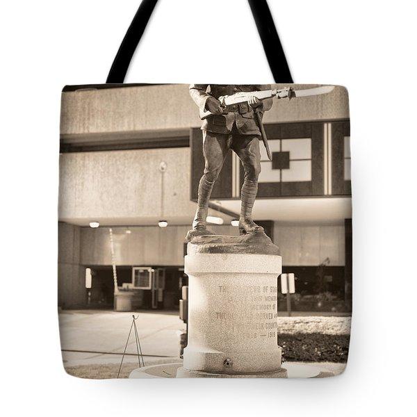 Stamford World War I Memorial Marker Tote Bag