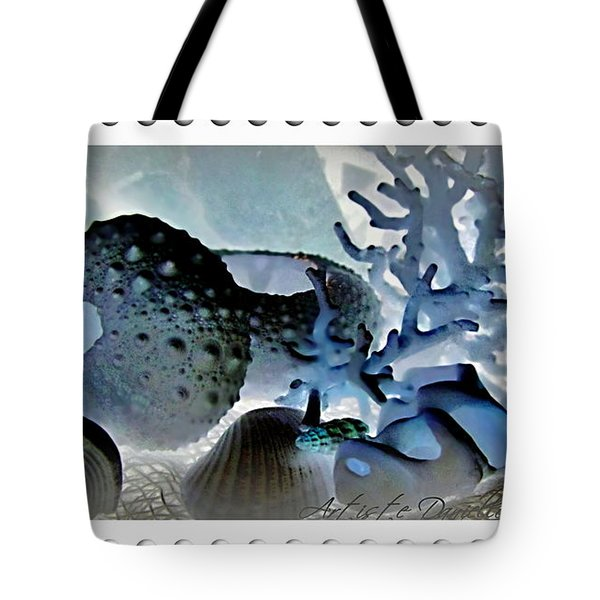 Stamp Seashells In Blue  Tote Bag by Danielle  Parent