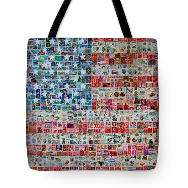 Stamps And Stripes Tote Bag by Gary Hogben
