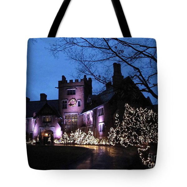 Stan Hywet Hall And Gardens Christmas  Tote Bag by Joan  Minchak