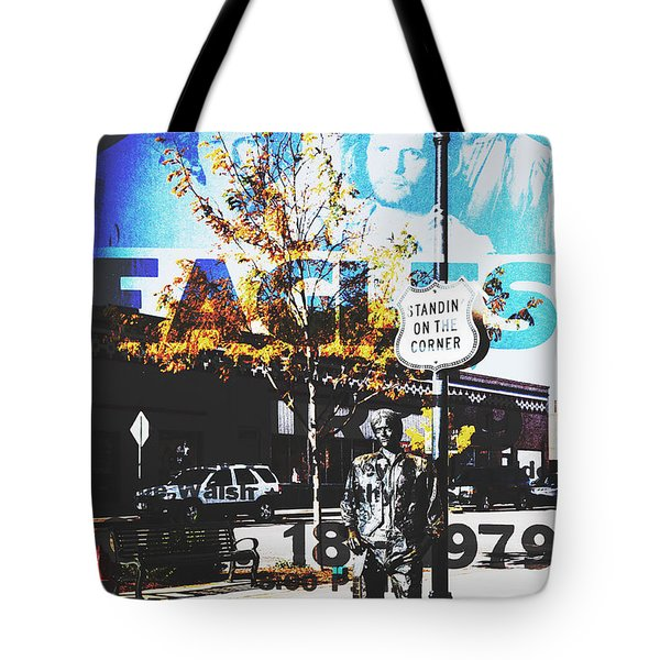Standin On The Corner Tote Bag