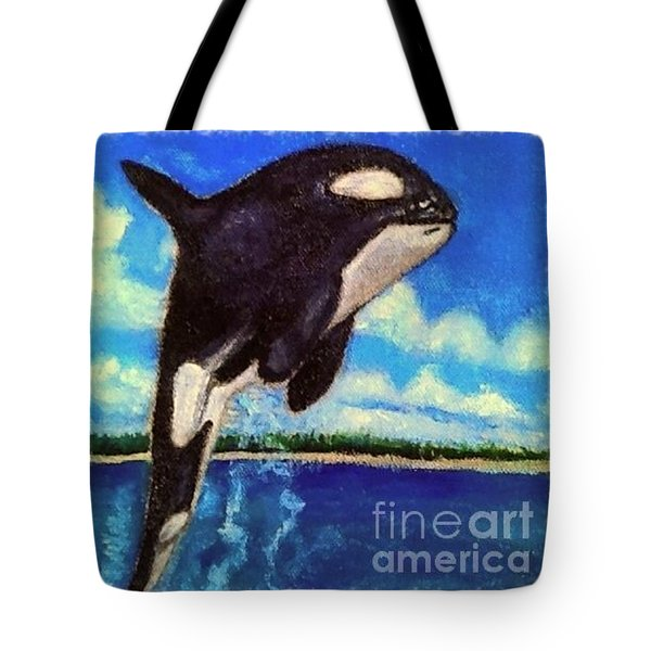 Tote Bag featuring the painting Standing Above The Rest by Kimberlee Baxter