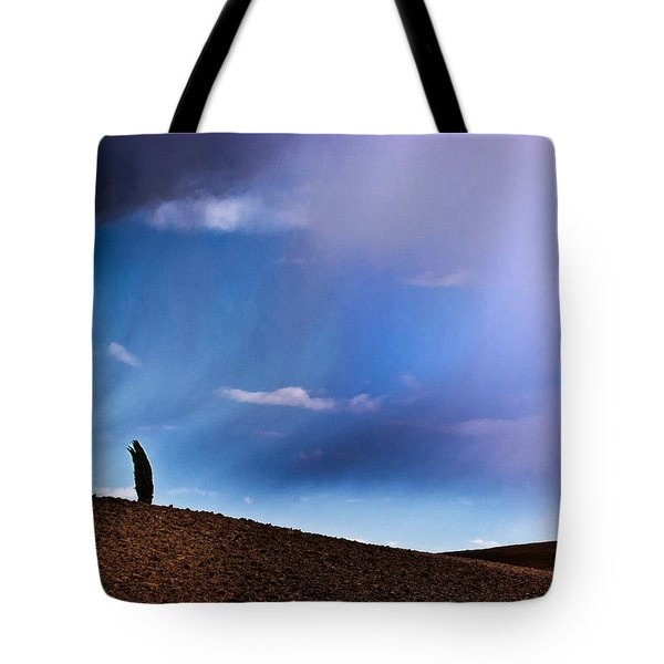 Standing Against The Wind Tote Bag