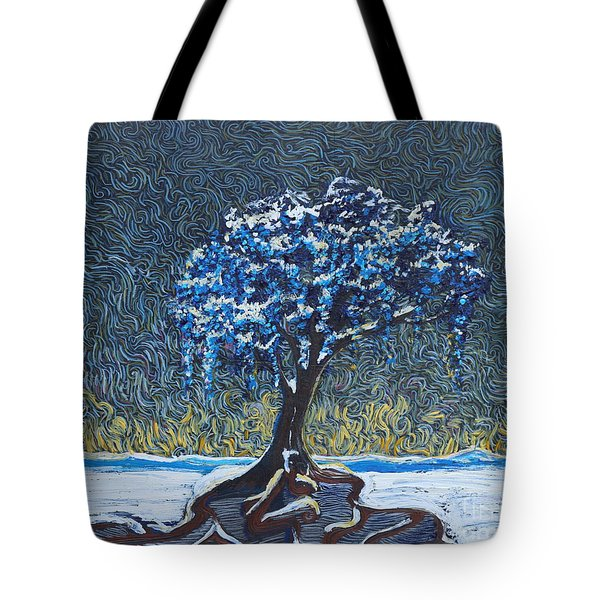 Standing Alone In The Snow Tote Bag
