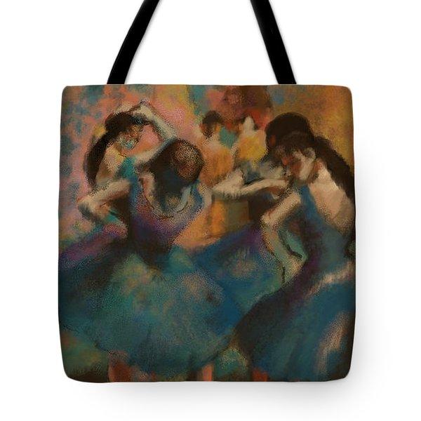 Standing Ballerinas Tote Bag