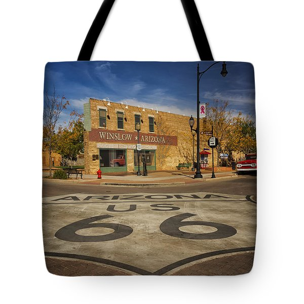 Standing On The Corner In Winslow Arizona Dsc08854 Tote Bag