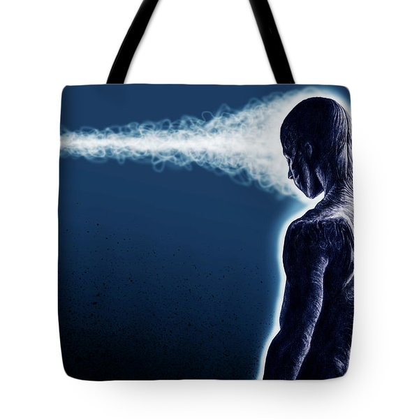 Standing Still Thoughts Proceeding Tote Bag by Tony Koehl