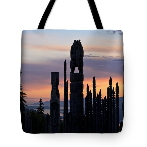Standing Tall At Sunset Tote Bag by Maria Janicki