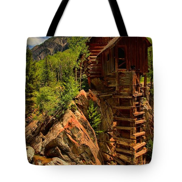 Standing Tall In Crystal Tote Bag by Adam Jewell