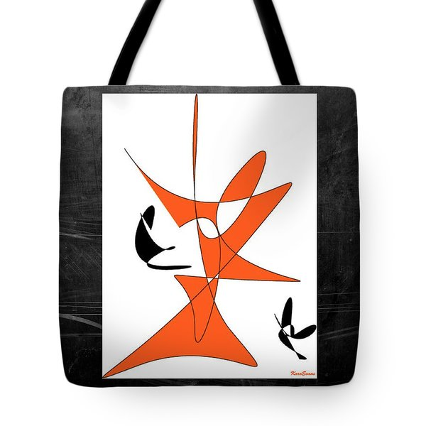 Tote Bag featuring the digital art Standing Up by Karo Evans