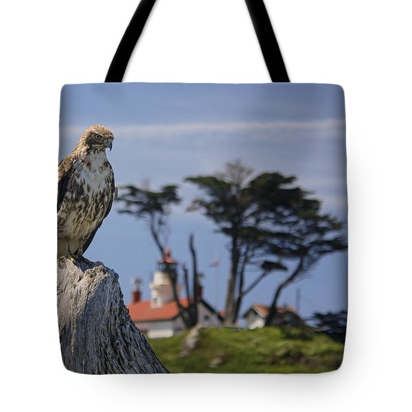 Tote Bag featuring the photograph Standing Watch by Betty Depee