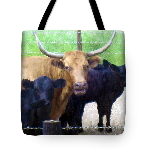 Standout Steer Tote Bag by Ric Darrell