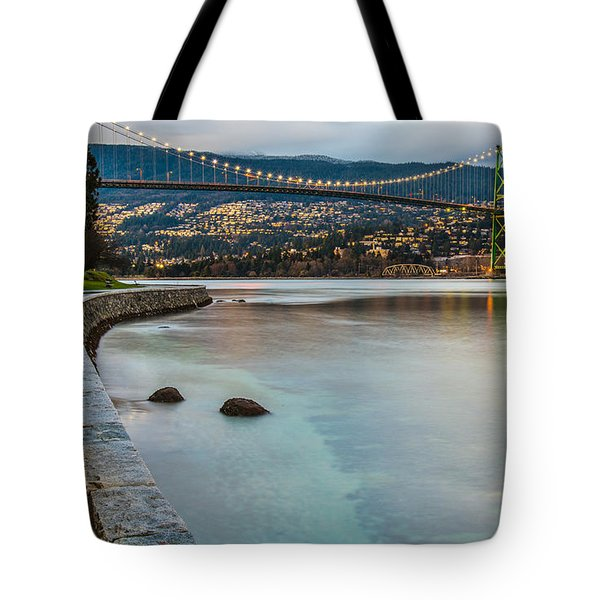 Stanley Park Seawall View Tote Bag