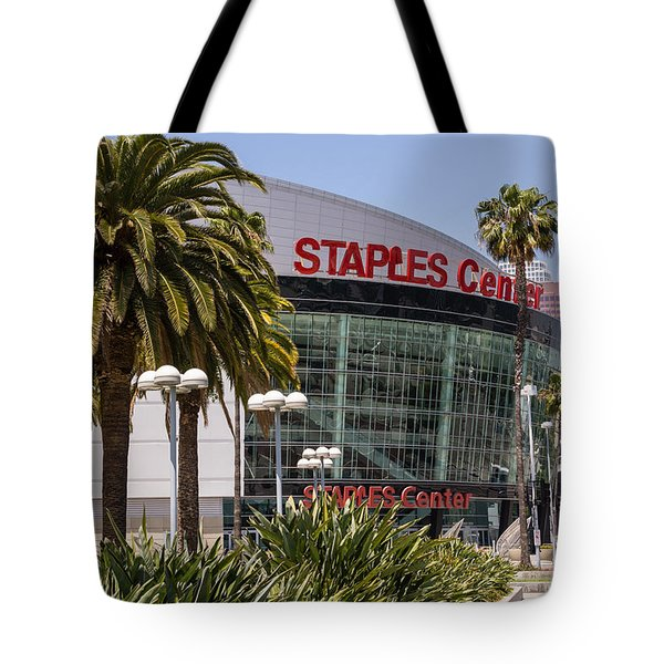 Staples Center In Los Angeles California Tote Bag by Paul Velgos
