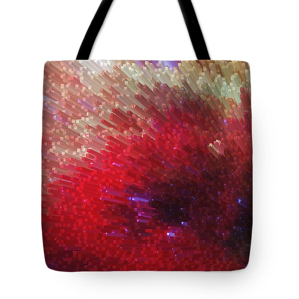 Star Burst - Red Abstract Art By Sharon Cummings Tote Bag by Sharon Cummings
