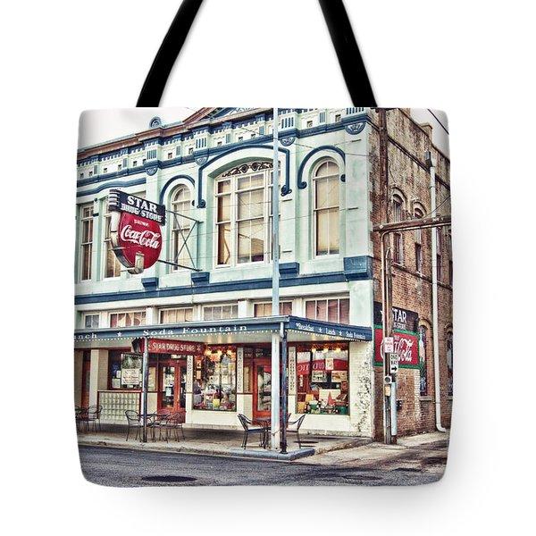 Star Drug Store - Store Front Tote Bag by Scott Pellegrin