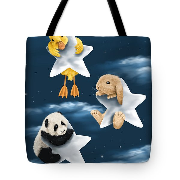Star Games Tote Bag by Veronica Minozzi