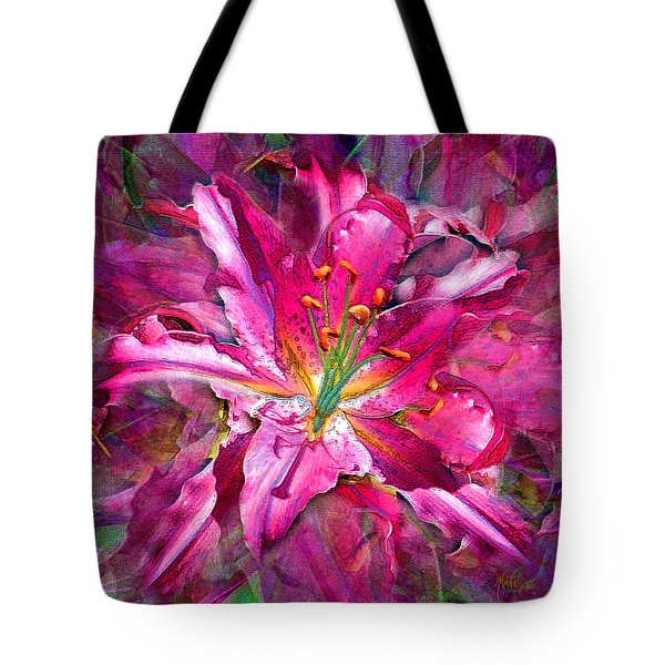 Star Gazing Stargazer Lily Tote Bag