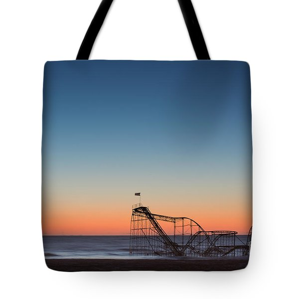 Star Jet Roller Coaster Hdr Tote Bag by Michael Ver Sprill