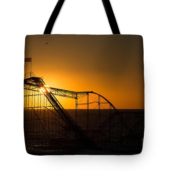 Star Jet Silhouette Tote Bag by Michael Ver Sprill