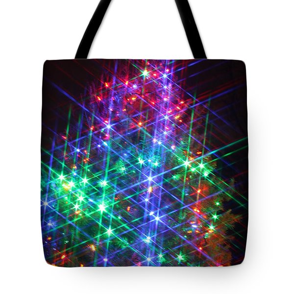 Tote Bag featuring the photograph Star Like Christmas Lights by Patrice Zinck