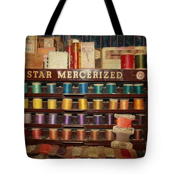 Star Mercerized Thread Display Tote Bag by Janice Rae Pariza