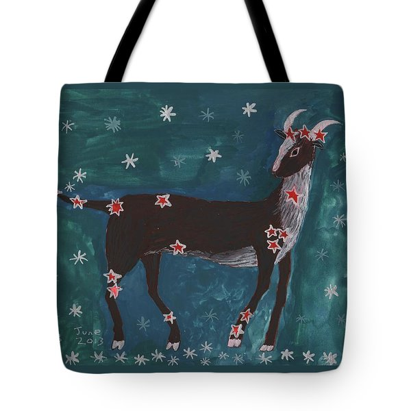 Star Sign Capricorn Tote Bag by Sushila Burgess