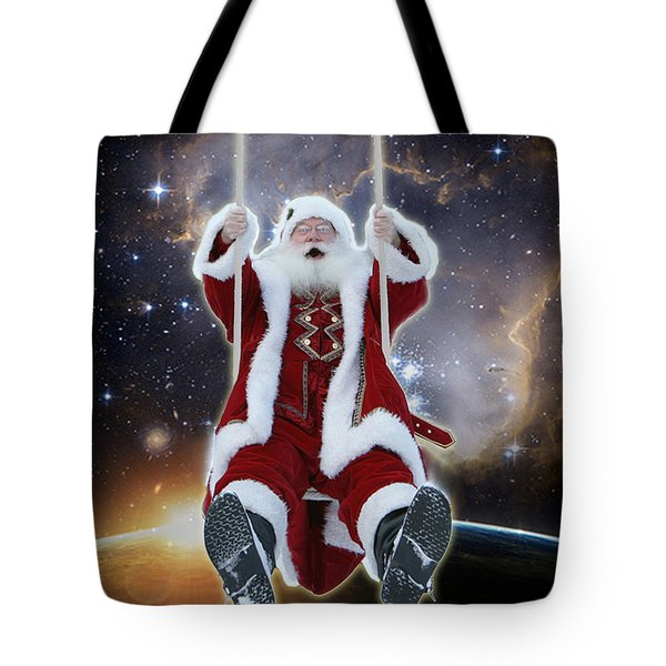 Santa's Star Swing Tote Bag
