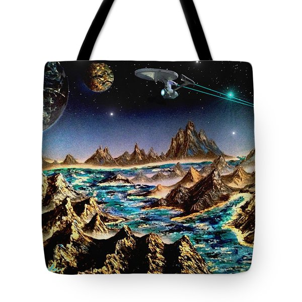 Star Trek - Orbiting Planet Tote Bag