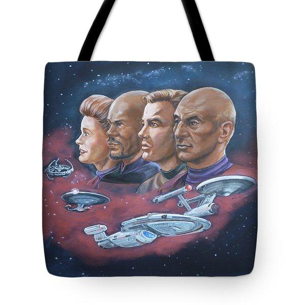 Star Trek Tribute Captains Tote Bag