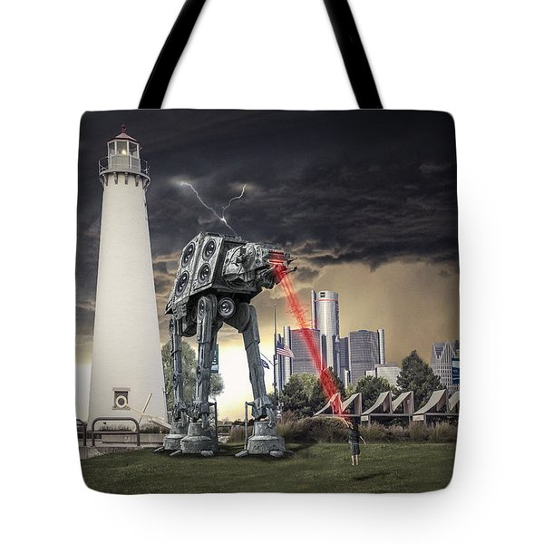 Tote Bag featuring the photograph Star Wars All Terrain Armored Transport by Nicholas  Grunas
