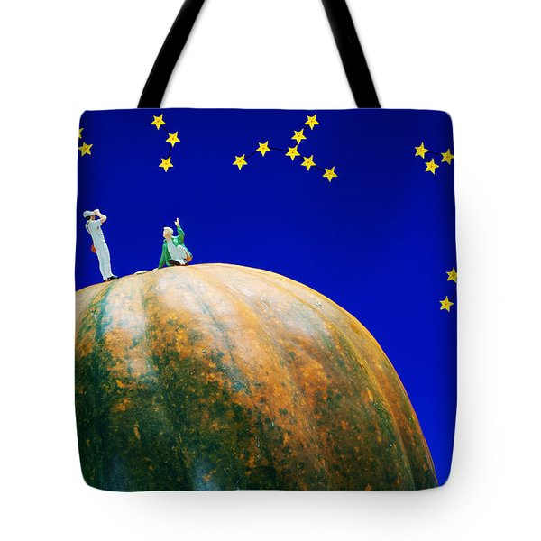 Tote Bag featuring the photograph Star Watching On Pumpkin Food Physics by Paul Ge
