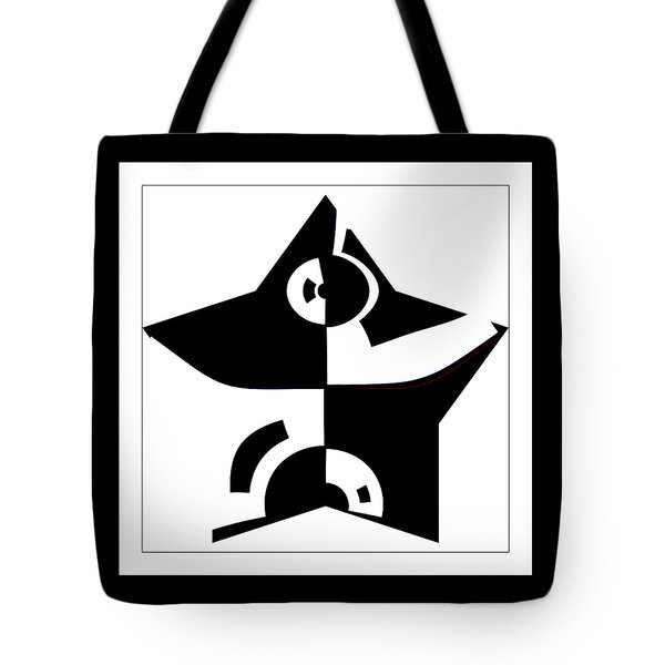 Tote Bag featuring the digital art Star by Wendy J St Christopher