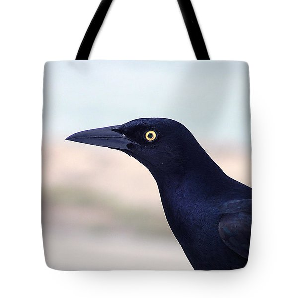 Stare Of The Male Grackle Tote Bag
