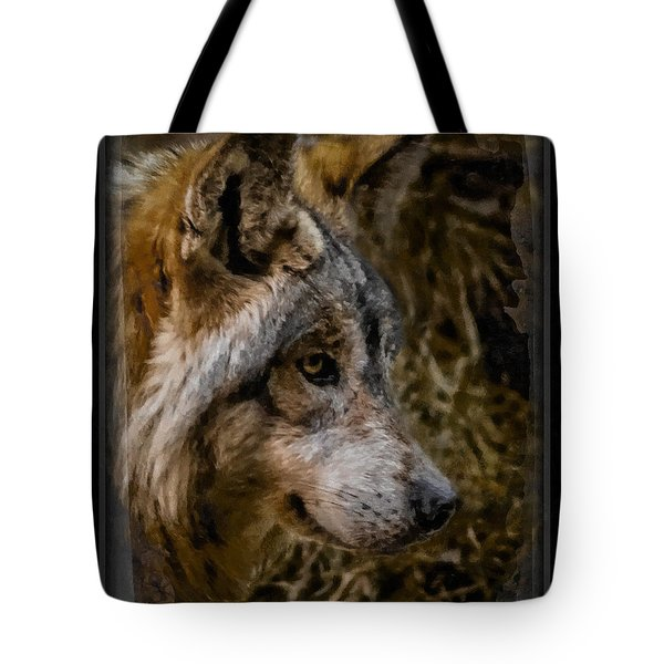 Stare Of The Wolf Tote Bag by Ernie Echols