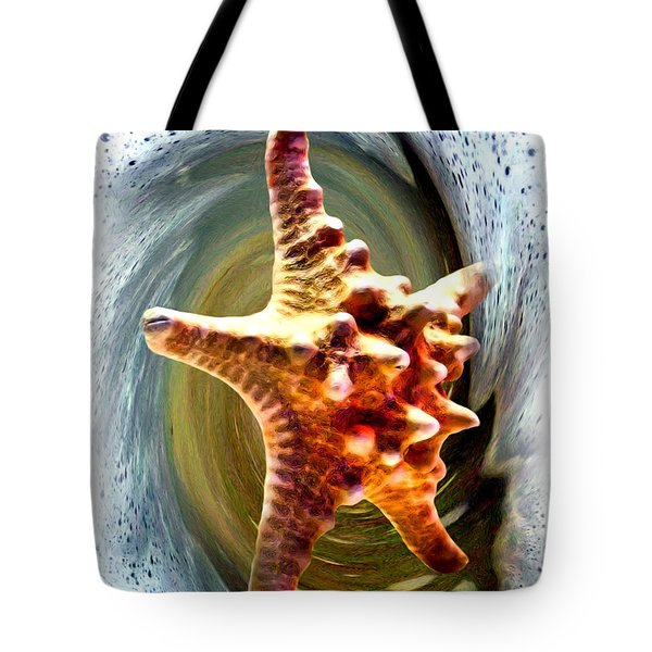 Tote Bag featuring the digital art Starfish by Daniel Janda