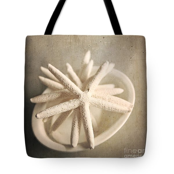 Tote Bag featuring the photograph Starfish In A Bowl by Sylvia Cook