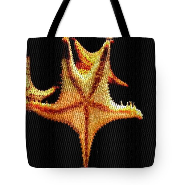 Tote Bag featuring the photograph Starfish In Mosaic by Janette Boyd