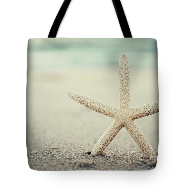 Starfish On Beach Vintage Seaside New Jersey  Tote Bag